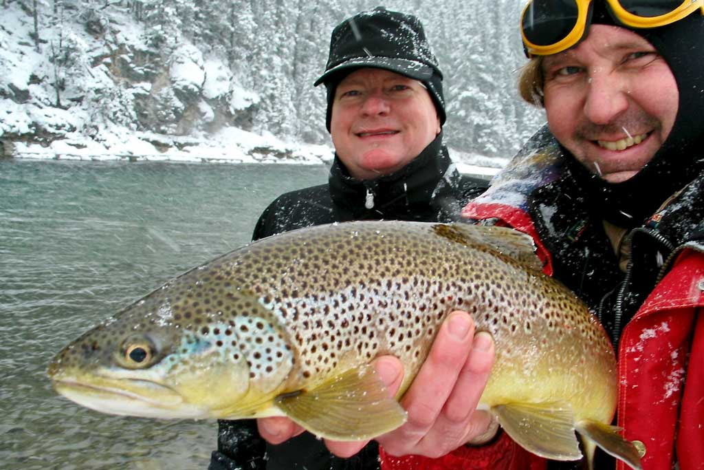 Bow River Fishing Winter